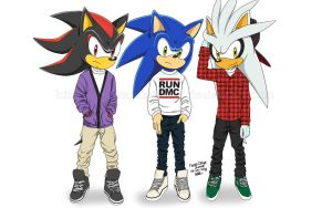 those 3 awesome hedgehogs by kartasmita