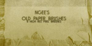 Ngees Old Paper Brushes Set 1 by ngee