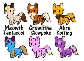 PokeKitty Adopts (Set 4) - Closed! by DreamyButt