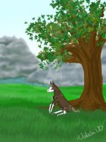 A Rest Under The Tree by The-LeafIslet