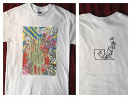 T-shirt Psychedelic Cactus by uhhhhtaco