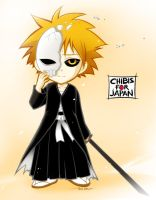 Chibis for Japan: Ichigo by nekoshiei