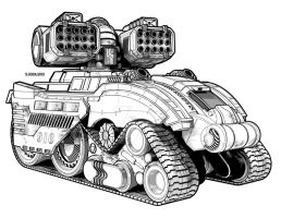 Gurzil Heavt Tank by StephenHuda