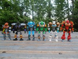 Toa Masters Size Comparison by SpudYeisleyCreations