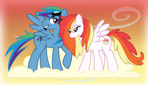 Rainbow Dash's Parents - When We Were Younger by LugiaAngel