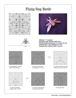 Origami stag Beetle full Diagrams by origami-artist-galen