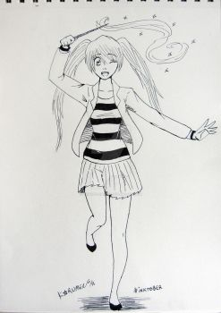 Inktober12: A witch out of Hogwarts by SHINSEN-HIKARU