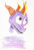 Spyro portrait - kryptangel92 by IcelectricSpyro