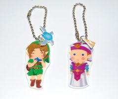 Zelda OOT charms by knil-maloon