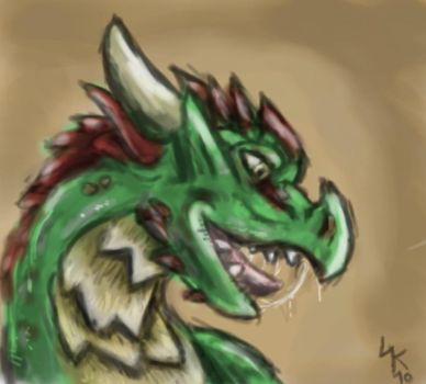dragonhead quickdrawing by lizardlars