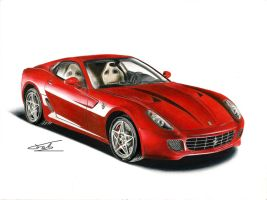 Ferrari 599 GTB DRAWING by xeonos