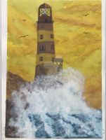 Stormy Lighthouse by gasser55