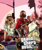 Grand theft auto V - Poster by Speetix