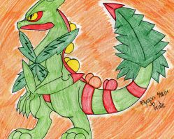 Pokemon- Mega Sceptile by FlygonPirate