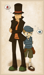 Layton 'n Luke by Chikuto