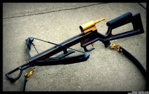Demon-Hunters Crossbow in Aged Bronze by JohnsonArms