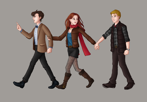 Team TARDIS Redux by eclecticmuse