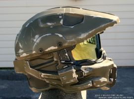 Halo 4 Master Chief Replica Helmet - Side View by JohnsonArms