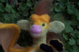 Lil' Needlefelt Ahkahna by shadechristiwolven