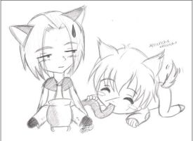+Chibi Snape and Remus+ by yaoi-fangirl