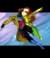 Gambit and Rogue Commish by JazylH