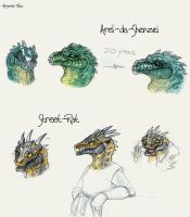 Argonian Tales sketches 1 by Hndz
