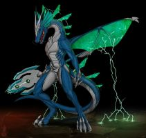 Electric dragon Raicurese by HornedStorm