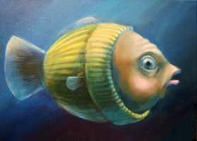 Study of a Worried Sweater Fish, Lateral View by Studio-in-Blue