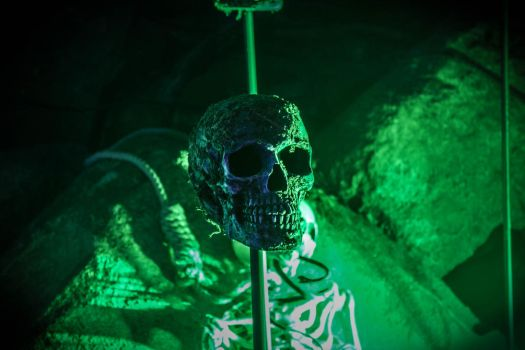 Green skull at Nossan light festival by JonnyEklund