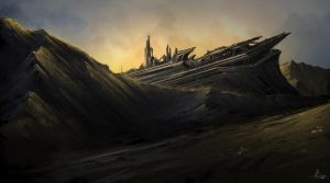 Environment Speedpainting 2 by AaronGriffinArt