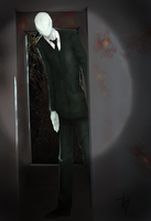 Slenderman at the Hospice by skullzhead