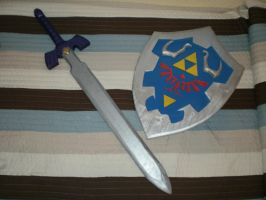 Hylian shield and repainted MS by DSenderM