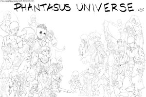 Phantasus Universe - line art by TheKawaiiSeeAll