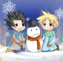 FF7-Holidays 2009 by mihiru-chan