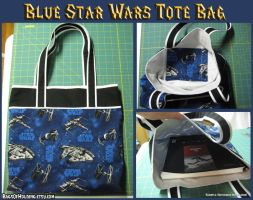 Blue Star Wars Tote Bag by Verdaera