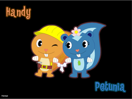 Handy and Petunia by schoman3