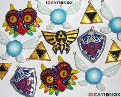 LOZ clay charms by Ideationox