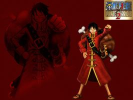 One Piece PW2 Wallpaper Luffy Film Z by Theahj90