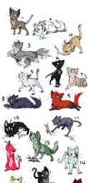 Kitty adoptables open by Unornamented