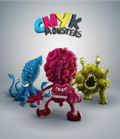 CMYK monsters by rafajija