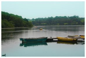 Boats on the water by Android18a