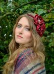 Juliette Silk Flower Red Rose Headband A/W edit by paradiseshoretwins
