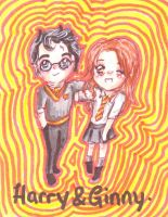 Chibi Harry and Ginny by kawaiisweetie-chan