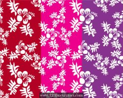 Seamless Flower Pattern 6 by 123freevectors