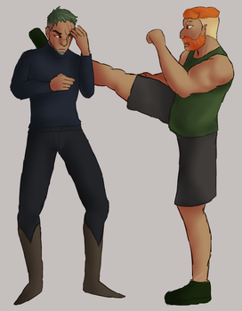 PMA :: Art Fight :: May :: Old Men Fighting by mattedcrow
