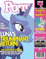 Pony Magazine: Luna's returns! by Dutchess6942