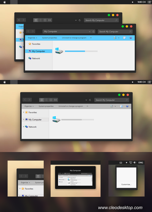 Yosemite Black Theme Windows 8.1 by cu88