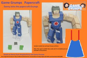 Game Grumps Dan Papercraft by Collecter128