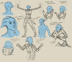 Liara Scribbles by Ma-rin