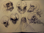 more skulls by JulioNicoletti
